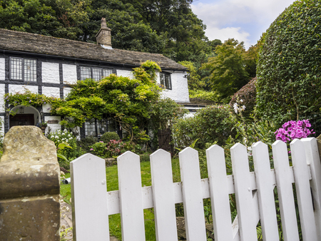 Cottage and Garden in the small village of Pott Shrigley, Cheshire, England.