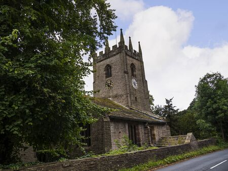 St Christopher`s Church  in the small village of Pott Shrigley, Cheshire, England.