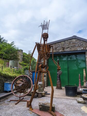 Metal Sculptures in the small village of Pott Shrigley, Cheshire, England