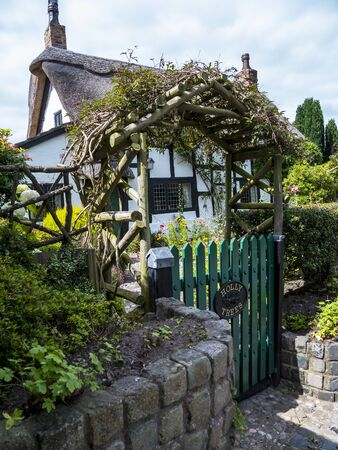 Thatched Cottage in Cheshire England Editorial