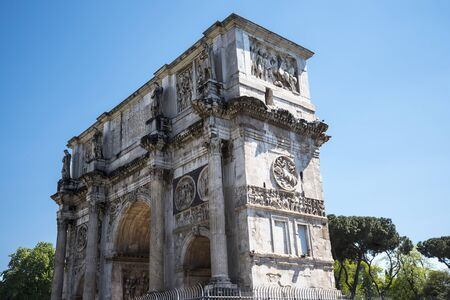 The Arch of Constantine by the Colosseum in Rome Italy