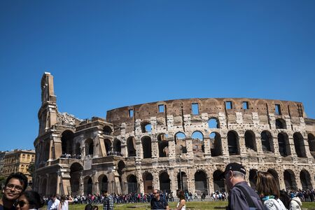 The Colosseum was the Flavian Amphitheatre built by Vespasian in what was the lake of Nero's Golden House is the most famous monument in Rome.