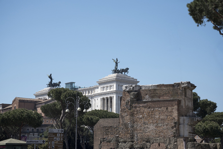 The Vittoriale by the Forum in Rome Italy Editorial