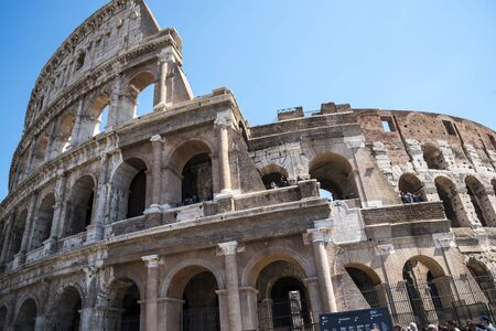 The Colosseum was the Flavian Amphitheatre built by Vespasian in what was the lake of Nero�s Golden House is the most famous monument in Rome Editorial