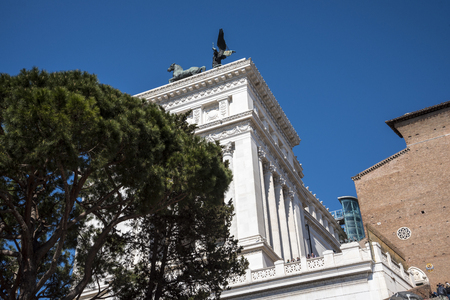 The Monument to King Vittorio Emanuel 2 in Roe Italy