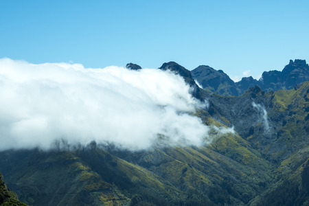 Mist in the Mountains in the north of the Island of Madeira 新聞圖片