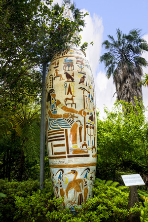 Huge Vase in Tropical Garden at Monte above Funchal Madeira Editorial