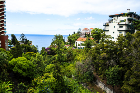 Views of the sea from the hotel district of Funchal on the island of Madeira