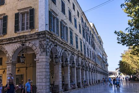 The Liston is an arched stone colonnade in front of the Spianada. It is the heart of the day and night life of the old town and beyond the tourists it is also full of Corfiots that come here to drink a coffee and to meet friends.