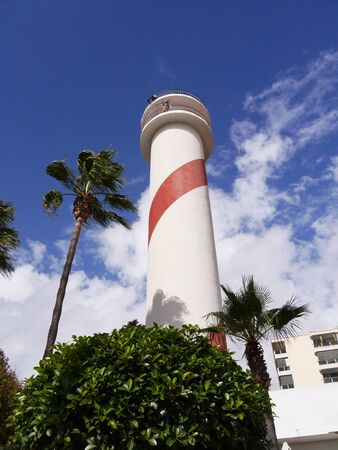 Lighthouse in the stylish resort of Marbella on the Costa Del Sol in Andalucia Spain Editorial