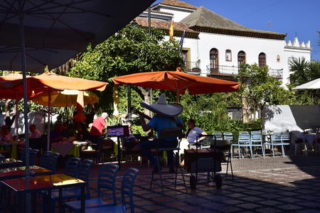 Plaza de Naranjas, Orange Square in the Stylist Town of Marbella on the Costa del Sol Spain