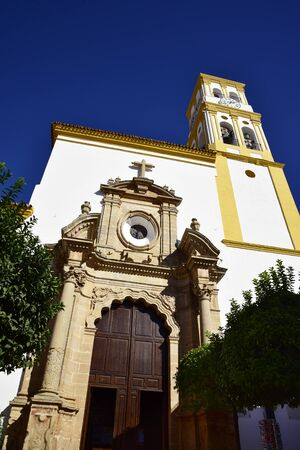Parish Church in the old Town of  Marbella on the Costa Del Sol in Spain Europe