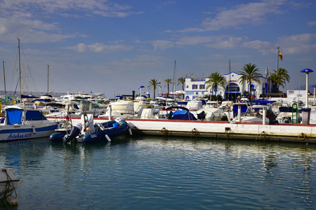 The marina in Marbella on the Costa del Sol Spain