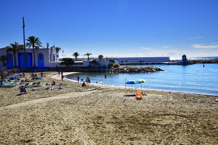 The Beach in the Stylish Resort of Marbella in Spain