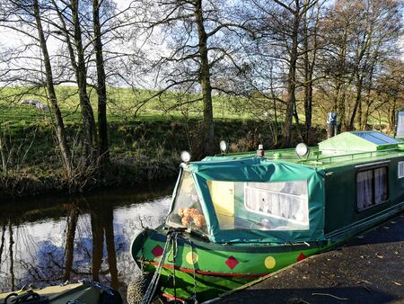 Salterforth England. The Leeds Liverpool Canal at Salterforth in the beautiful countryside on the Lancashire Yorkshire border in Northern England
