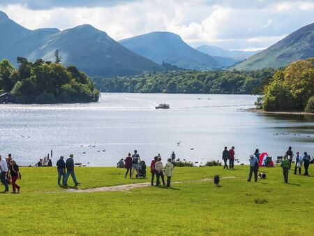 Derwentwater is a place of considerable scenic beauty. It is surrounded by hills (known locally as fells), and many of the slopes facing Derwentwater are extensively wooded