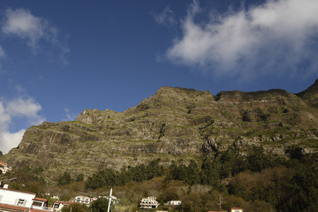Nuns Valley in the Mountains of madeira which was a haven for the sister when Pirates raided the island of Madeira Portugal 新聞圖片