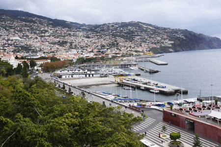 Overlooking the Harbour in Funchal on the island of Madeira Portugal