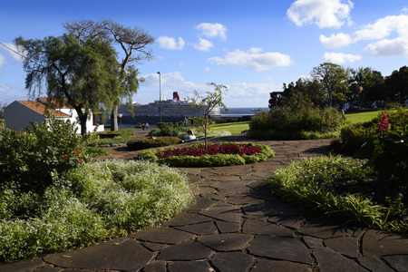 The Santa Caterina Park overlooking the harbour in Funchal Portugal Editorial