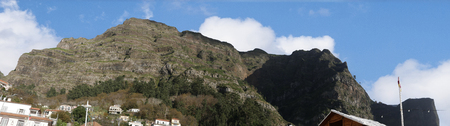 The Nun's Valley in the mountains above Funchal on the island of Madeira in the Atlantic Ocean 版權商用圖片