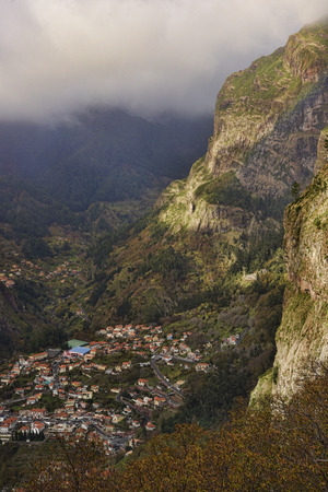 The Nun's Valley in the mountains above Funchal on the island of Madeira in the Atlantic Ocean