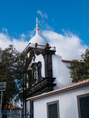 Church of Santa Maria on headland in Funchal Madeira Portugal