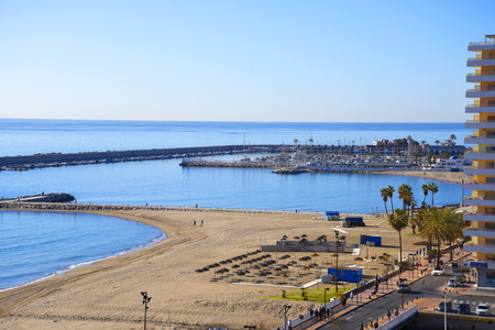 The Beach at Fuengirola in Andalucia Spain