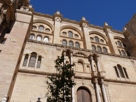 The Cathedral of Malaga in the city of Malaga in Andalucia in southern Spain. It is in the Renaissance architectural tradition
