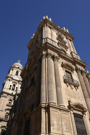 The Cathedral of Malaga the Capital  city of the province of Andalucia in Southern Spain