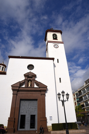 Our Lady of Mercy Church in Fuengirola in Andalucia Spain Editorial
