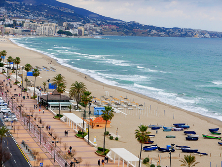 The beach at Fuengirola on the Costa Del Sol in Spain