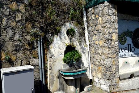 Fountain at the bus stop in Amalfi Italy Sajtókép