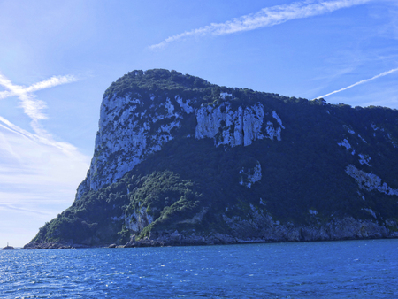 Approaching the Isle of Capri on the Ferry from Sorrento in Italy