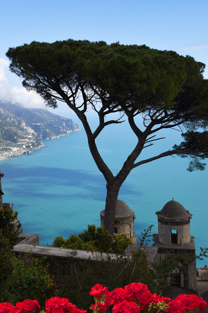 Garden of the Villa Rufolo in Ravello high above the Amalfi Coast in Italy