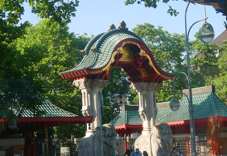 The Entrance to the Zoological Gardens near the Potsdammerplatz berlin Germany