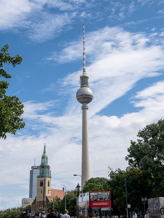 The Fernsehturm Communication tower in Berlin Germany
