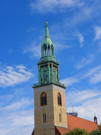 The Marienkirche in Alexanderplatz in Berlin Germany Editorial