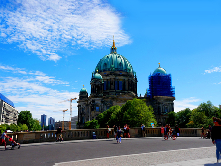 The Deutscher Dom which is the Protestant Cathedral in Berlin Germany