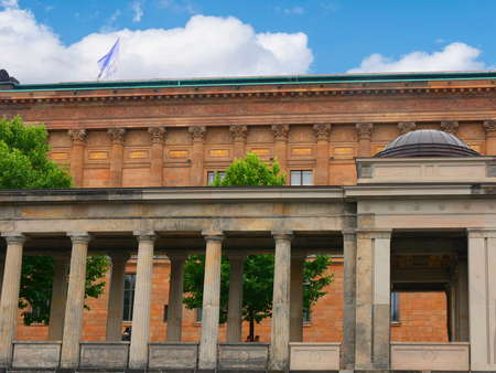 The National Gallery on Museum Island in Berlin Germany