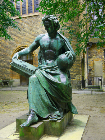 Statue by the Nikolaikirche in Berlin Germany Editorial