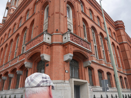 The red brick town hall of Berlin Germany