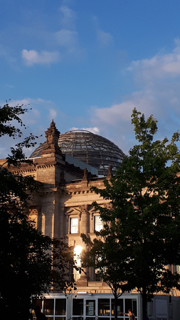 The Reichstag in Berlin, after reconstruction, is once again the meeting place of the German parliament: the modern Bundestag.