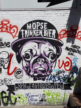 Graffitti in Berlin Germany near Alexanderplatz