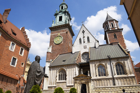 Cathedral in Wawel Castle Krakow Poland. Krakow, the unofficial cultural capital of Poland, was named the official European Capital of Culture for the year 2000 It is a major attraction for both local and international tourists, attracting seven million v