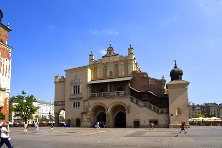 The Cloth Hall in the Market Square in Krakow Poland Editorial