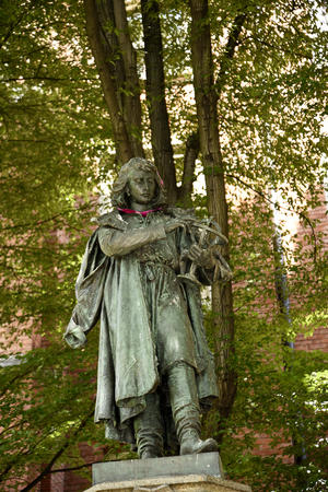 Statue of Nicholai Copernicus at the Jagiellonian University in Krakow Poland.