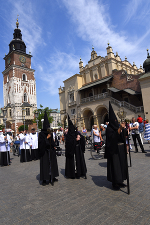 The Corpus Christi processions in Krakow Poland are every year in May. Editorial