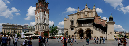 The Market Square in the city of Krakow Poland