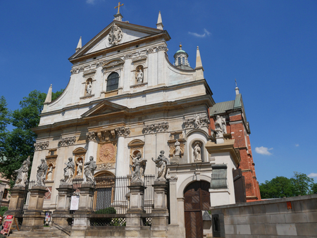 Church of St Peter and St Paul in Krakow with its fabulous facade.It is the biggest of the historic Churches of Krakow in terms of seat capacity so is used as a concert venue