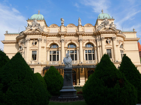 Juliusz Słowacki Theatre in Kraków, Poland, erected in 1893, was modeled after some of the best European Baroque theatres such as the Paris Opera designed by Charles Garnier